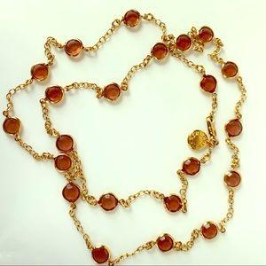 J. Crew round bezel set necklace